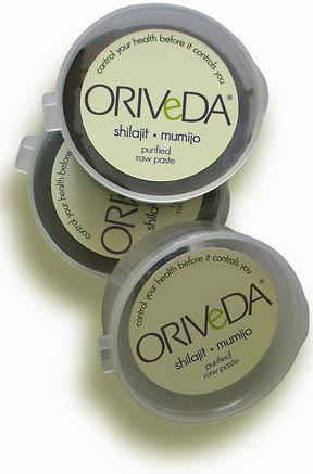 ORIVeDA is selling standardized Shilajit-Mumijo resin in 25 grams containers. The fulvic acid content is 11-12%. The product has been authenticated by a patented process and meets the requirements of the Russian Pharmacopeia for Mumijo and the GOST standards for safety and quality.